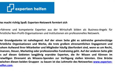 Das macht richtig Spaß: Experten-Netzwerk formiert sich